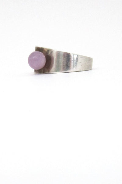 Hans Hansen double amethyst ring