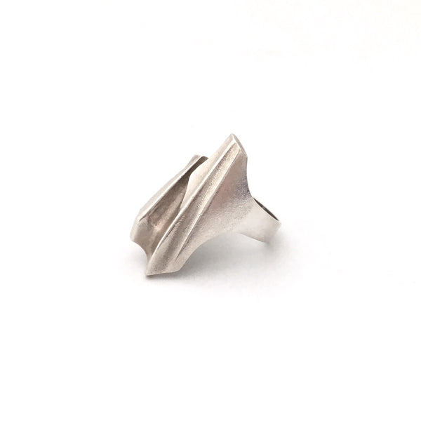 Lapponia large silver 'Shuttle' ring ~ Bjorn Weckstrom