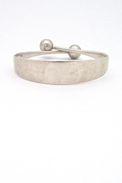 Hans Hansen heavy silver spheres bangle bracelet