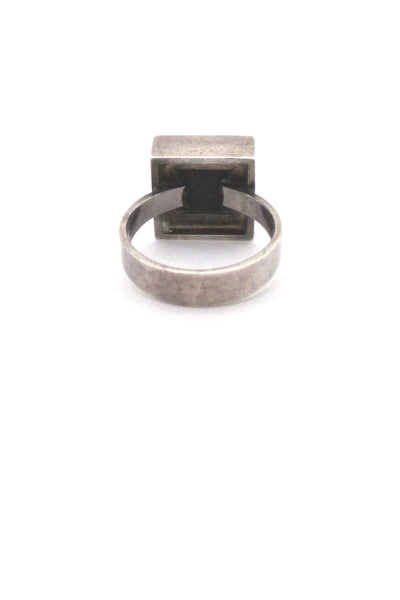 Niels From silver & onyx square ring
