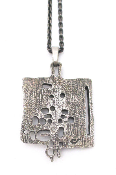 Guy Vidal openwork pendant necklace
