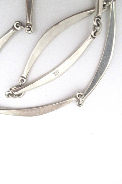 Niels From long link silver choker necklace