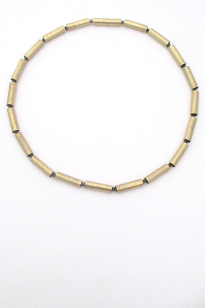 Jens Aagaard Denmark vintage mid century modern sterling silver and gold necklace