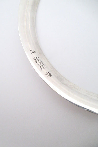 Ove Wendt for Age Fausing wide silver neck ring