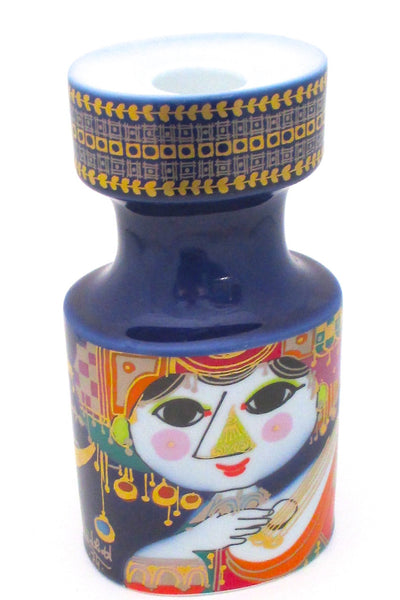 Bjorn Wiinblad for Rosenthal vintage Oriental Night Music candle holder signed 1974