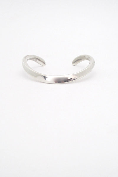 Ove Wendt for Age Fausing Denmark vintage heavy silver curved Scandinavian Modern bracelet