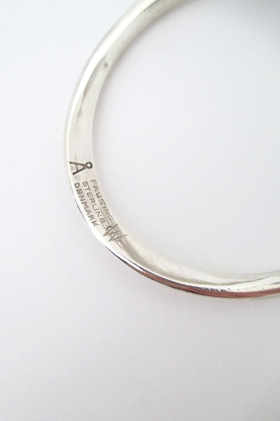 Ove Wendt for Age Fausing curved silver bracelet