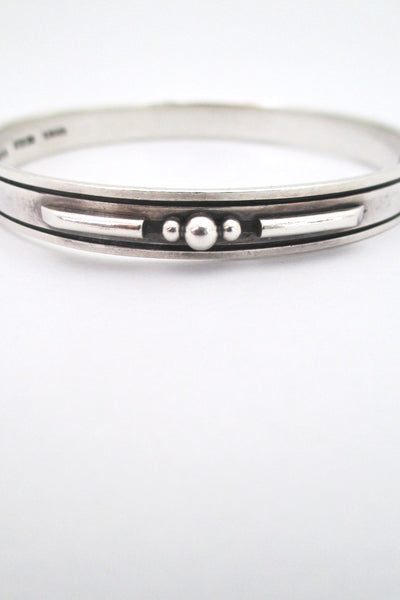 detail Sigurd Black Denmark vintage silver nicely detailed bangle bracelet mid century Scandinavian design