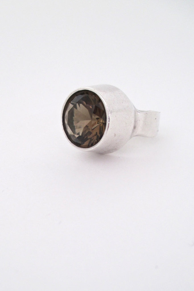 Ibsen and Weeke Denmark vintage silver large Scandinavian modernist ring