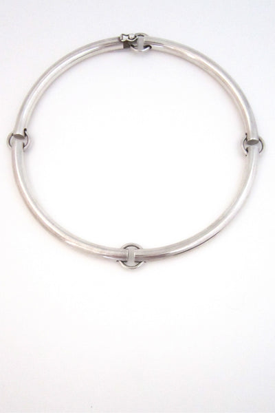 Jens Asby, Denmark vintage sterling silver sectioned neck ring