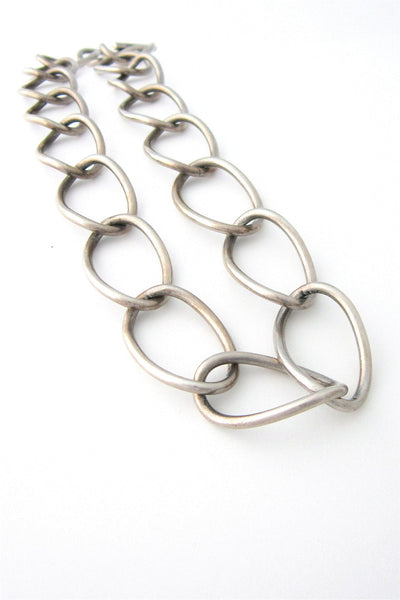 John Lauritzen Denmark silver large link necklace