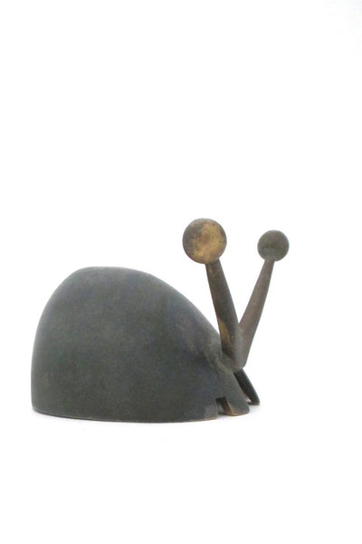 Pal-Bell Israel mid century bronze snail sculpture ashtray by Maurice Ascalon