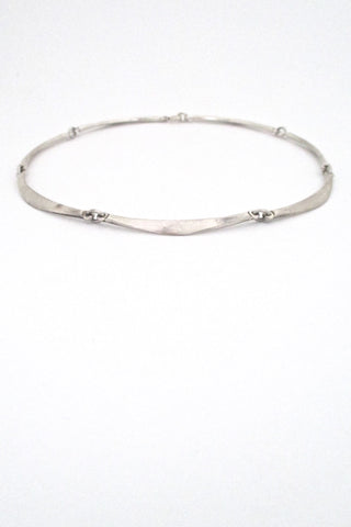 Niels Erik From Denmark vintage silver long link choker necklace mid century design