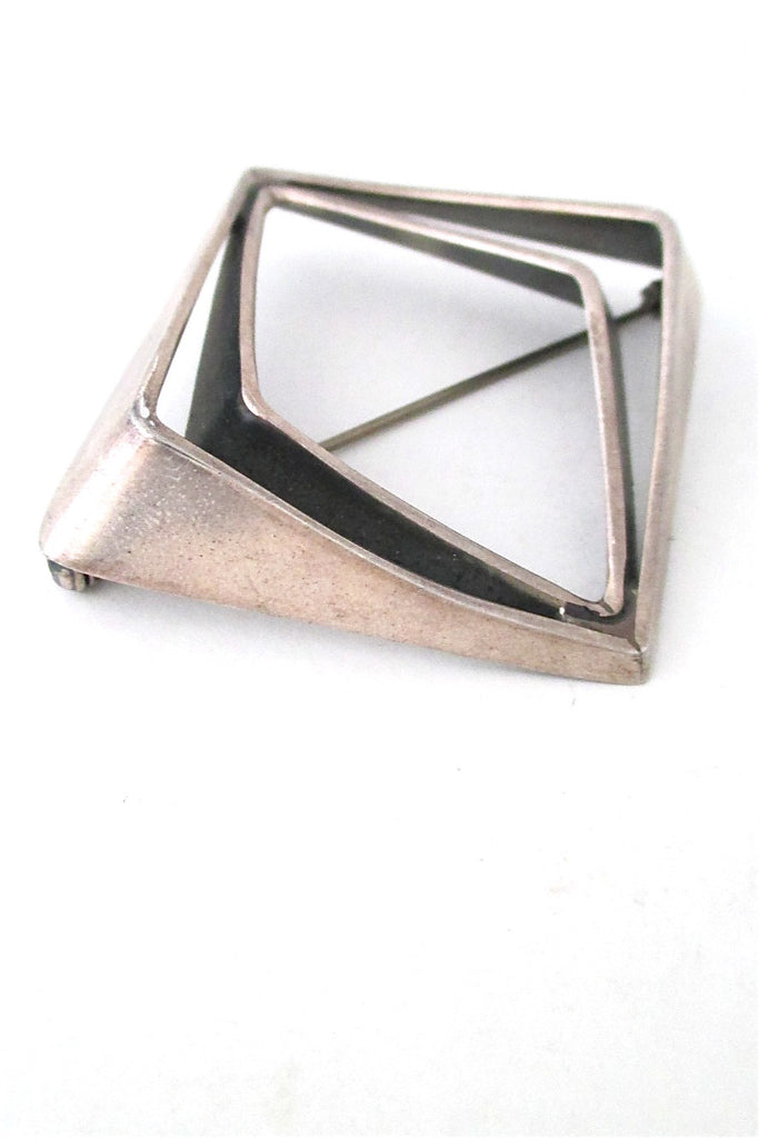 Norway Design Plus Studio Norway vintage silver large Amphi brooch
