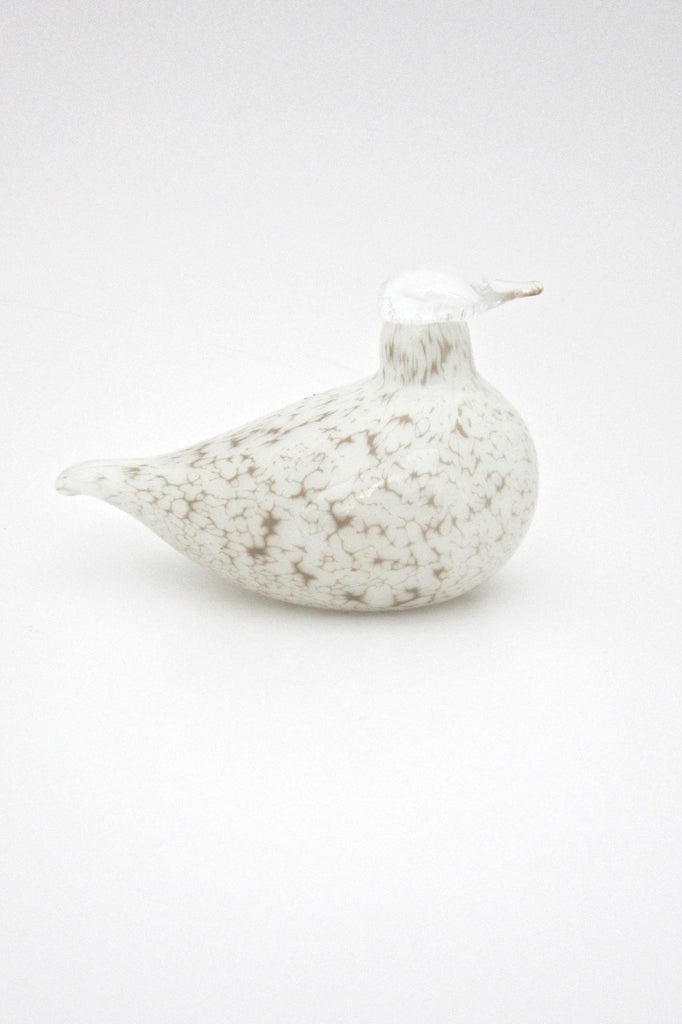 Oiva Toikka Nuutajarvi Finland glass bird white willow grouse sculpture iittala