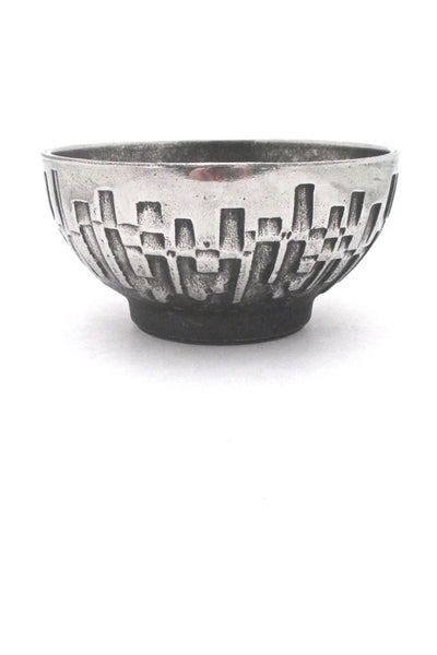 Olav Joff for Polaris Norway vintage brutalist Steel Art bowl