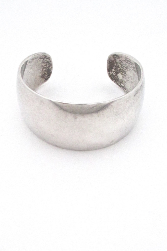 Ove Wendt for Age Fausing Denmark heavy vintage silver cuff bracelet Danish Modern Design