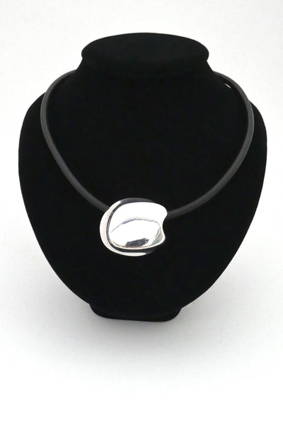 Lapponia silver & leather choker ~ Poul Havgaard, 1974
