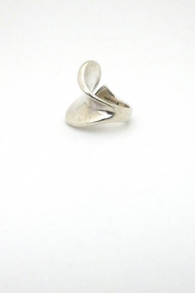 profile Georg Jensen Hans Hansen Denmark large vintage silver ring Scandinavian Modernist jewelry design
