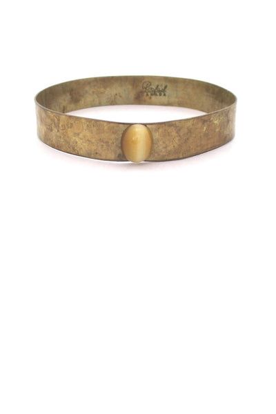 Rafael Alfandary Canada hammered brass rare bangle bracelet vintage Canadian jewelry