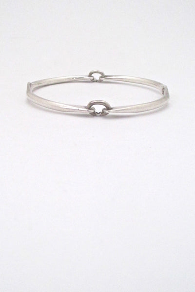 Rafael Alfanadary Canada vintage sterling silver hinged bangle bracelet