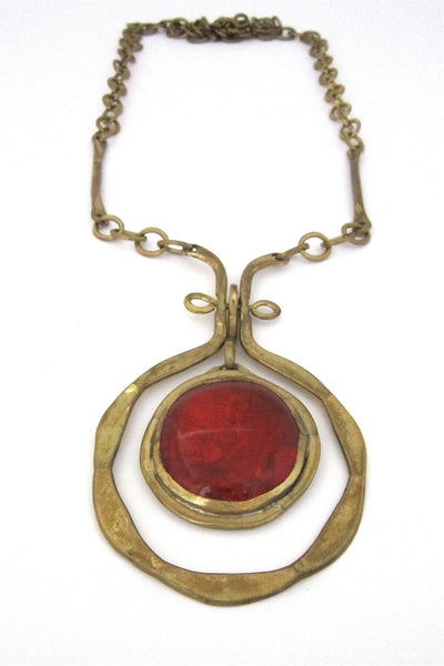 Rafael Alfandary Canada tangerine kinetic necklace