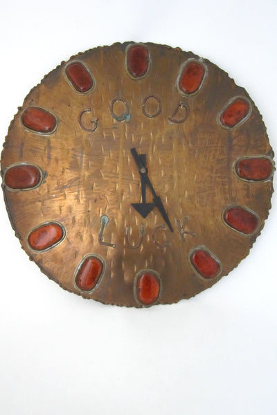 Rafael Canada large vintage wall clock signed & dated 1974