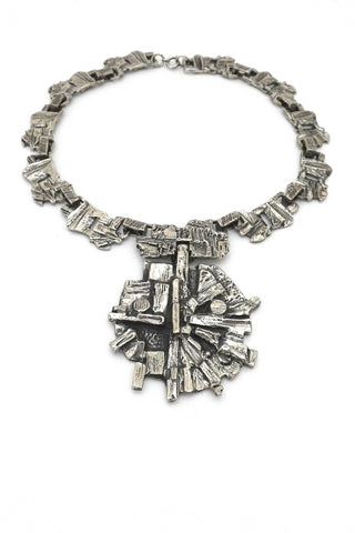 Robert Larin large chunky link bib necklace