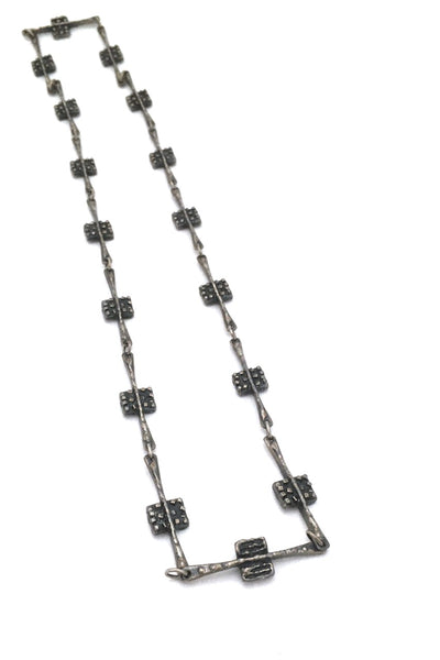 Robert Larin brutalist pewter 2-in-1 double sided necklace #1