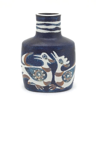 Royal Copenhagen Denmark vintage ceramic faience Baca bird vase 1 by Nils Thorsson Scandinavian Modern design