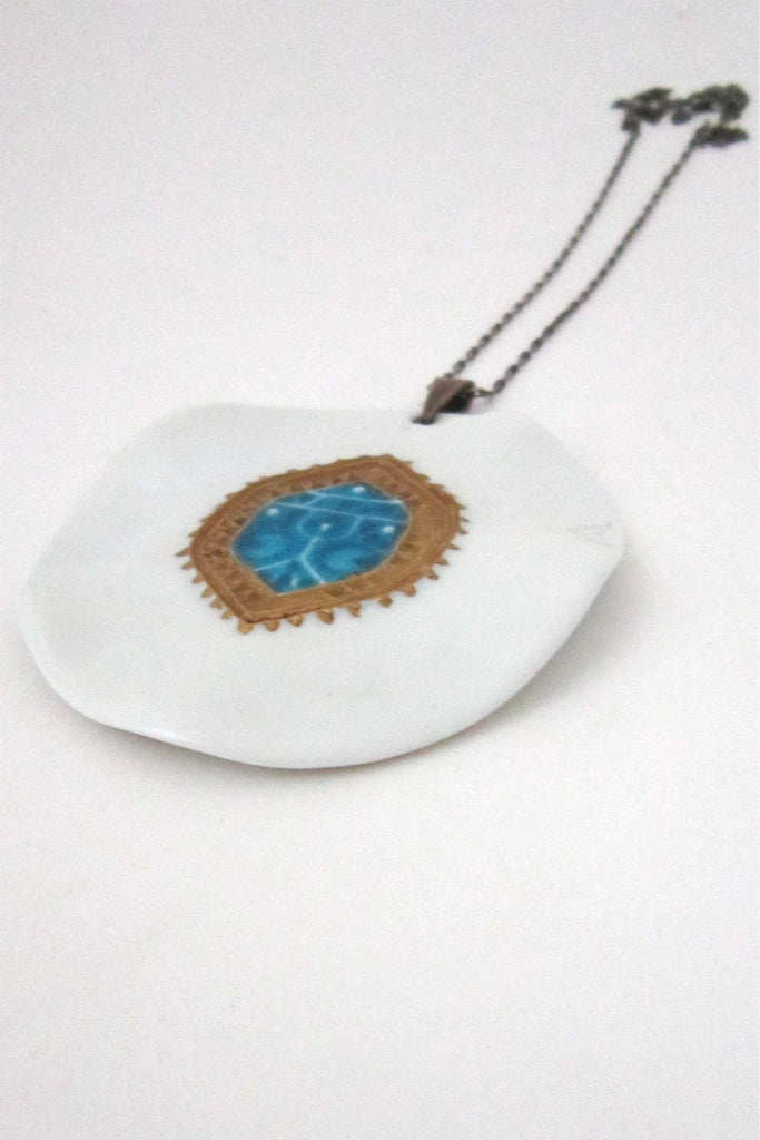 Royal Copenhagen Anton Michelsen large porcelain pendant by Nils Thorssen