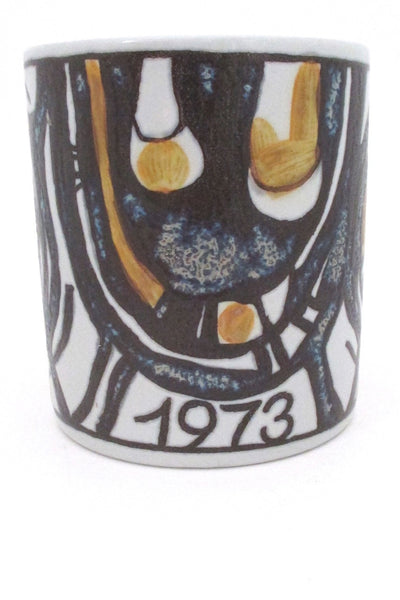 detail Royal Copenhagen Anton Michelsen large annual mug 1973 Gerd Hiort Petersen