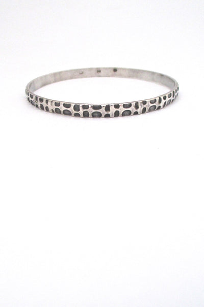 Rytosztuka Poland vintage textured silver Modernist bangle bracelet