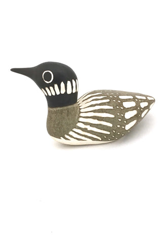 Strawberry Hill Pottery large swimming loon