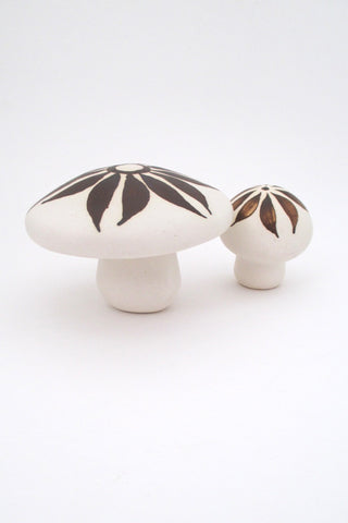 Strawberry Hill Pottery Canada vintage ceramic pair of mushroom sculptures