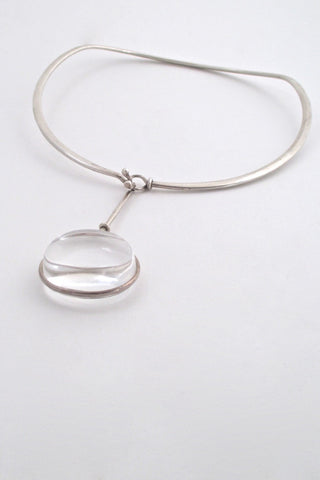 9d271f3487d Sold Vivianna Torun for Georg Jensen Denmark large Dew Drop rock crystal neck  ring and pendant