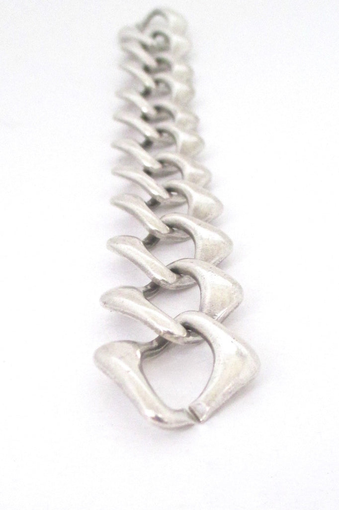 a1492d37dc8 ... detail Yves St Laurent YSL vintage sterling silver heavy chain link  bracelet ...