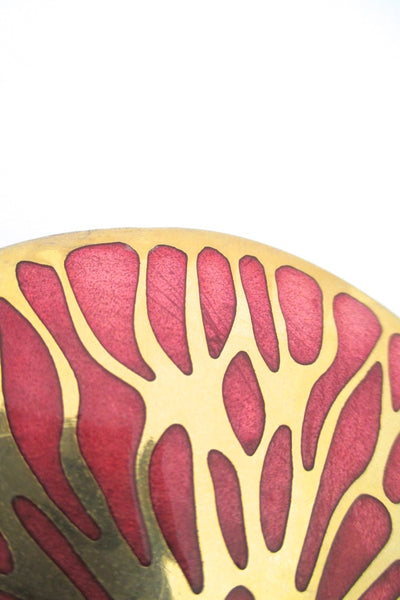 de Passille-Sylvestre large 'pink grapefruit' belt buckle