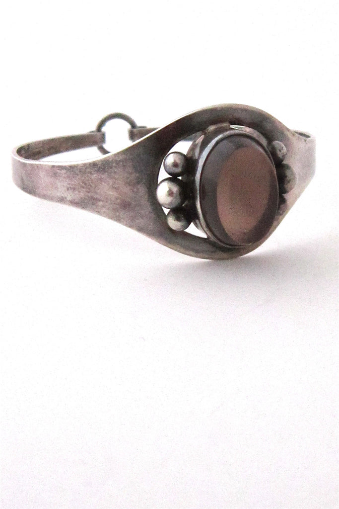 Erik Granit Finland sterling silver and smoky quartz bracelet 1966