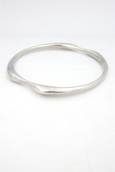 Georg Jensen, Denmark sterling silver bangle #155 by Nanna Ditzel