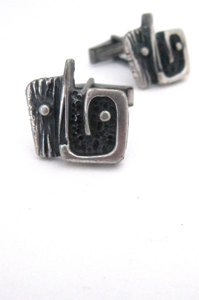 Guy Vidal Canada abstract face cufflinks