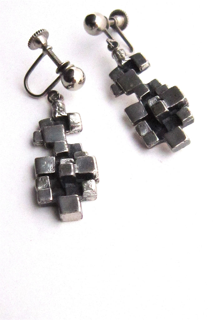 Guy Vidal cubes drop earrings