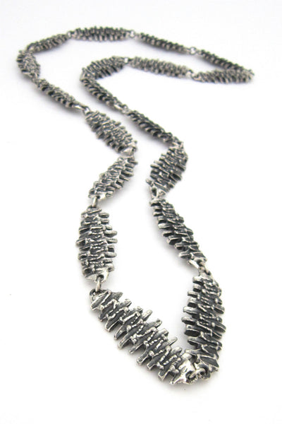 Guy Vidal Canada pewter reversible necklace