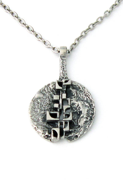 Robert Larin open disc pendant