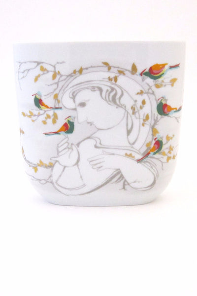 Rosenthal Bjorn Wiinblad woman and birds vase