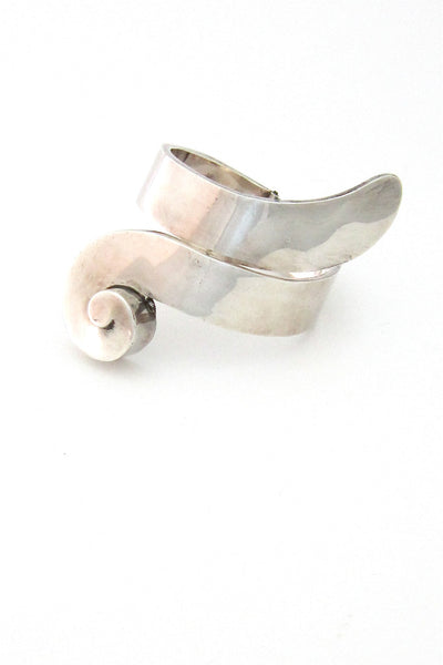 Mexico sterling silver large clamper bracelet