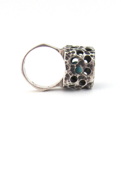 caged sphere ring