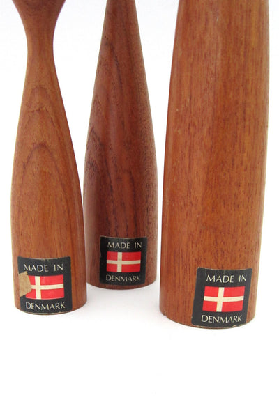 Danish teak candle sticks