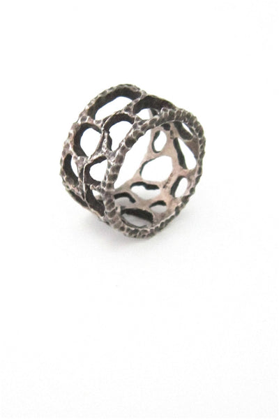 brutalist lace silver band
