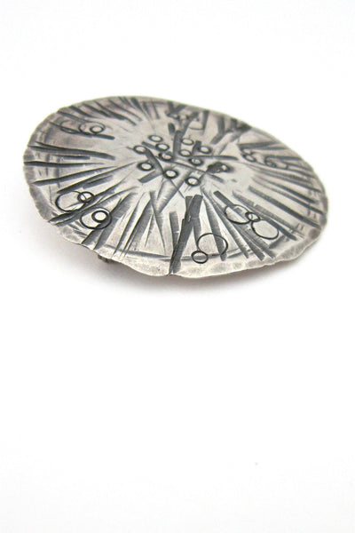 Ed Levin silver shield brooch